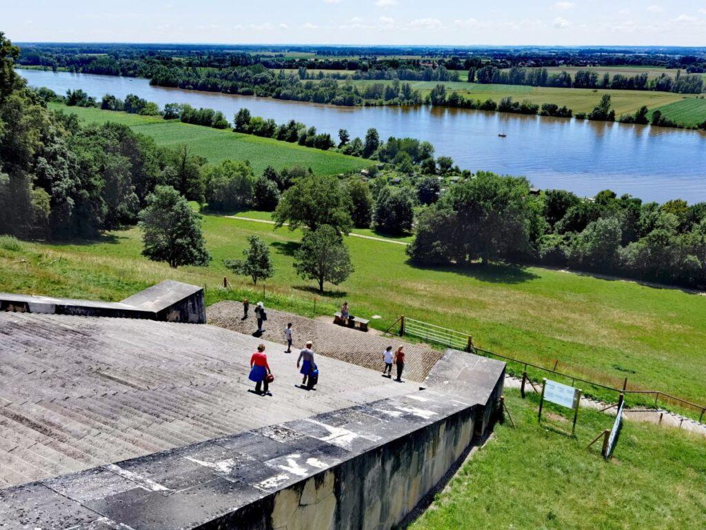 Stufe für die Stufe auf die Walhalla wandern - dreh dich auch mal um für den Blick auf die Donau